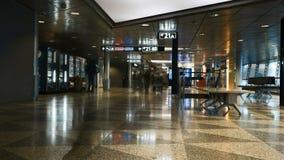 4K在赫尔辛基机场万塔,芬兰里面的timelapse 股票录像