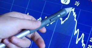 4k在财政趋向图、财务事务&经济,经济股市的指点 股票视频