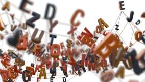 4K字母表信件 库存例证