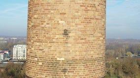 4k寄生虫被射击砖烟囱 影视素材