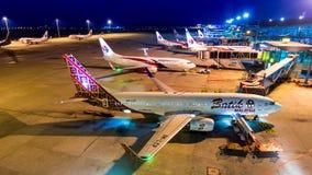 4k对Malasia航空公司运输在吉隆坡国际机场中,马来西亚夜飞机的时间间隔天  股票录像
