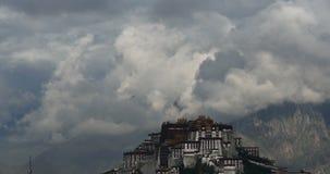 4k布达拉宫早晨,拉萨,西藏 Timelapse云彩 股票录像