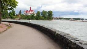 4K录影 平静的风景,海湾的看法在赫尔辛基 股票视频