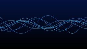 4K抽象波形形式的无缝的背景动画 流动的条纹 行动图表和动画背景 库存例证