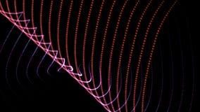 4k抽象涌起的织法点波浪线背景,音乐节奏加点背景 库存例证