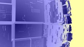 4k抽象科学小说技术,透明玻璃水晶矩阵背景 影视素材