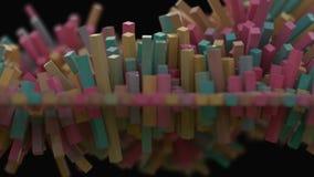 4K抽象立方体滤网 股票视频
