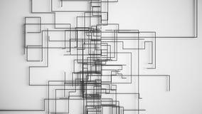 4K抽象网络成长概念 非常独特和原始 皇族释放例证