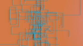 4K抽象网络成长概念 非常独特和原始 向量例证