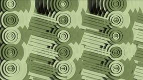 4k提取产业机器齿轮,圆的圈子机械,分数维几何艺术 皇族释放例证
