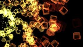 4k提取玻璃箱子背景,火焰烟花微粒,几何爆炸 皇族释放例证