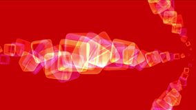 4k提取玻璃背景,发火焰烟花微粒,熔炼几何爆炸 库存例证