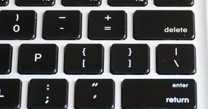4k新闻删除,键入在膝上型计算机键盘,精通计算机的操作员