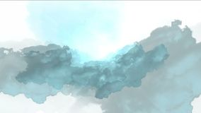 4k暴风云薄雾气体烟,雷闪电阴霾天空,大气背景 向量例证