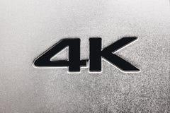 4K标签 免版税图库摄影