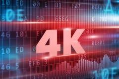4K概念 免版税图库摄影