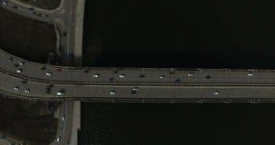 4K沃罗涅日空中射击有河沃罗涅日和桥梁的看法 股票视频