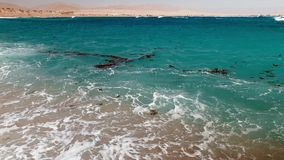 4k漂浮海表面上的垃圾、油、塑料和残骸录影  生态灾害和污染的概念 影视素材