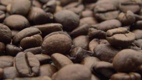 4k烤了咖啡豆转动 生气勃勃成份为准备好咖啡 股票录像