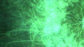 4k爆炸岩浆能量,云彩薄雾飞溅烟,火气体烟花微粒 向量例证