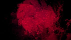 4k爆炸血液能量,云彩薄雾飞溅烟,火气体烟花微粒 库存例证