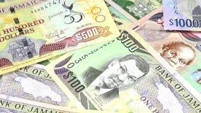 4k牙买加货币-银行业务和经济稳定概念 股票视频