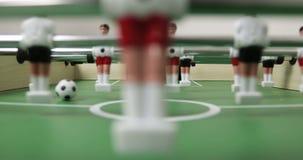 4K特写镜头视图桌足球喷射器橄榄球计算 影视素材