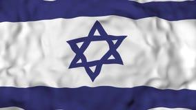 4k现实3D详述了慢动作以色列旗子,飞行的以色列旗子生气蓬勃的背景, 皇族释放例证