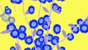 4k生长春天雏菊迎春花花分支植被植物 向量例证