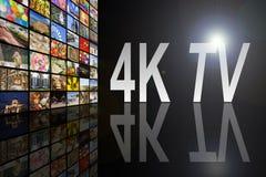 4K电视概念 免版税库存照片