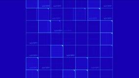 4k真正数字正方形,科学技术线,矩阵栅格扫描背景 库存例证