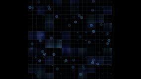 4k真正方形的电路,科学技术线,矩阵加点扫描背景 向量例证