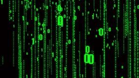 4k矩阵样式二进制编码,下降的数字,抽象未来技术背景 库存例证