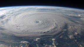 4K美国航空航天局Cinemagraph汇集-飓风费利克斯 皇族释放例证