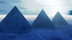 4k著名金字塔的timelapse在埃及在晚上 股票视频