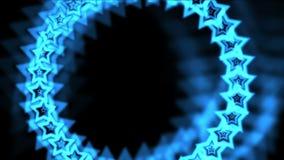 4k蓝星由气氛孔隧道,抽象vj背景制成 皇族释放例证