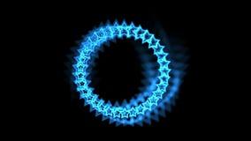 4k蓝星由气氛孔隧道,抽象vj背景制成 向量例证