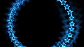 4k蓝星由气氛孔隧道,抽象vj背景制成 库存例证