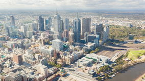 4k街市墨尔本,澳大利亚timelapse录影  股票录像