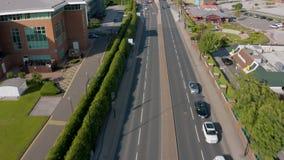 4K谢菲尔德郊外的空中英尺长度  股票录像