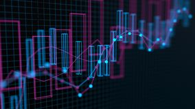 4K财务数据概念 库存例证