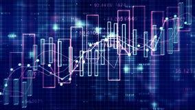 4K财务数据概念 皇族释放例证