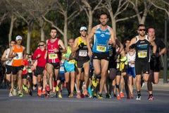 10k赛跑者 免版税库存图片