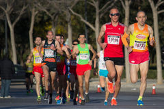 10k赛跑者 库存照片
