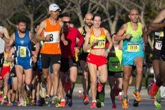 10k赛跑者 图库摄影