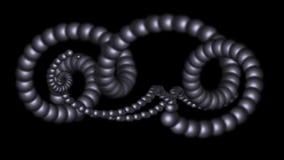 4k转动3d金属球环体,脱氧核糖核酸链子 向量例证