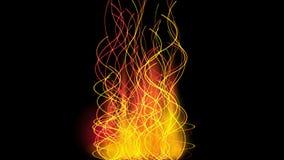 4k金子螺旋防火线烟,能量发信号,温暖的焕发节奏振动波浪 向量例证