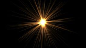 4k金黄阳光 抽象激光光芒,氖带领了轻,不可思议的幻觉烟花 库存例证