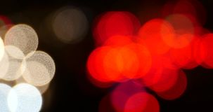 4k震动的照明设备在晚上,在天桥的许多汽车,交通堵塞 幻觉梦想 影视素材