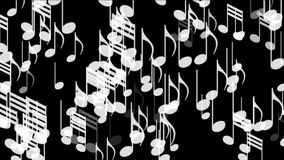 4k音乐注意背景,标志曲调曲调声音,浪漫艺术性的交响乐 向量例证